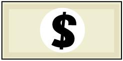大きいサイズの米ドル