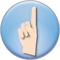 指を立てた手のボタン