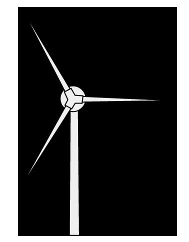 大きいサイズのシンプルな風力発電