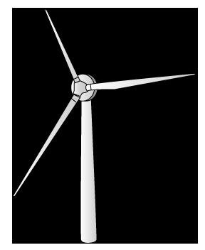 大きいサイズの立体的な風車