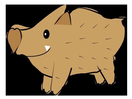 大きいサイズの可愛い猪