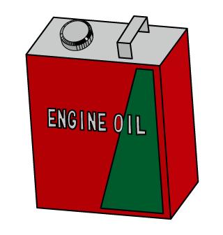 枠線つきエンジンオイル