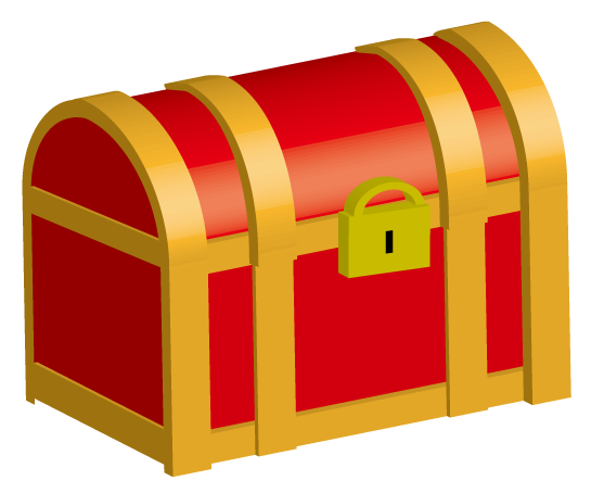 大きいサイズの宝箱のイラスト