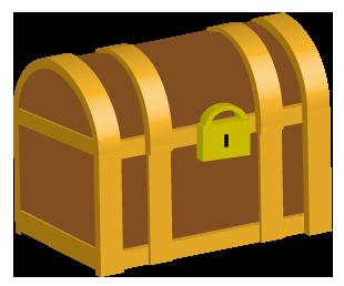 茶色の宝箱の中サイズ
