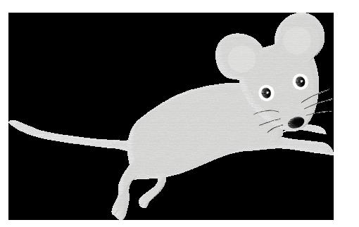 パステル風のネズミ