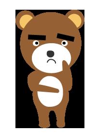 大きいサイズの困ったクマ