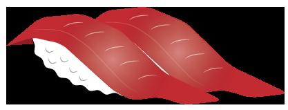 大きいサイズのオオトロ寿司2貫