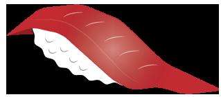 大きいサイズのトロの握り寿司