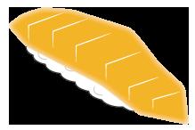 大きいサイズのサーモン寿司2貫
