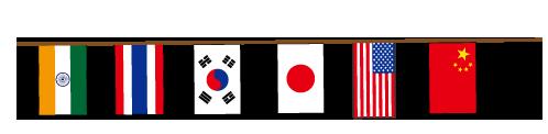 国旗の運動会の旗