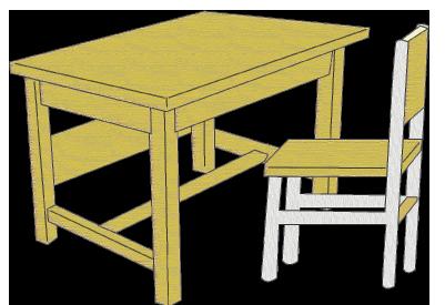 学習用の机とイス