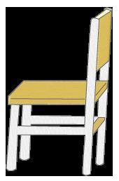 木製と鉄パイプの椅子