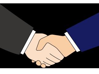 大きいサイズの握手・協力