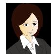 スーツ女性・顔アイコン