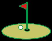 グリーンと旗とボール