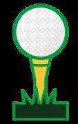 ピンとゴルフボール