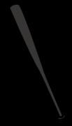 黒色の野球用バット
