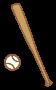 木製バットとボール