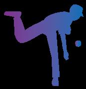 ピッチャーの青紫系グラデーション