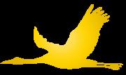 金色の飛空飛ぶ鶴