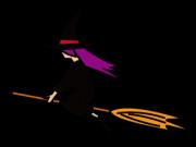 横向きの魔女