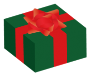 緑と赤のクリスマス用プレゼント
