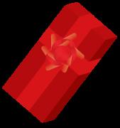 フラワーリボンつきのプレゼント