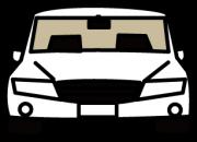 白の高級車