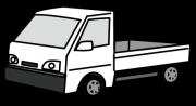白色のトラック