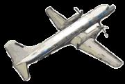 水彩画風飛行機