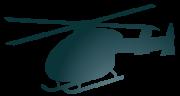 ヘリコプターのシルエット