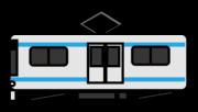 シルバーの快速列車