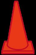 赤色のカラーコーン