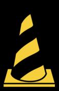 トラ柄のパイロン