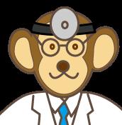 猿の医者キャラ