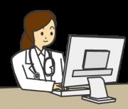 パソコンで仕事をする女性の意思