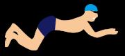 平泳ぎの男性