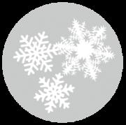 顕微鏡でのぞいたような雪の結晶