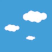 青い空と白い雲の背景写真