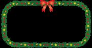 クリスマスリース(長方形)