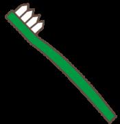 緑色のハブラシ
