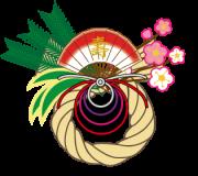 松竹梅の正月飾り