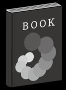 黒色のカバーの閉じた本