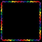 カラフルな正方形の馬のフレーム