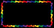 カラフルなウマの長方形のフレーム