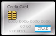 シルバーのクレジットカード