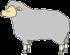 横を向いた羊のアイコン