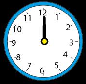 丸い掛け時計12時