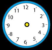 丸い時計(針なし・青)