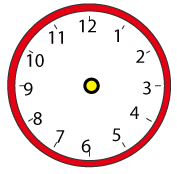 掛け時計の赤(針なし)